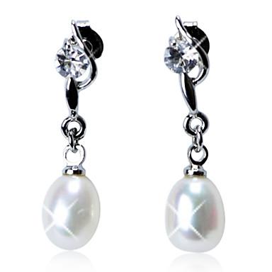 Pentru femei Perle Plastic Argintiu Rotund Bijuterii Costum de bijuterii
