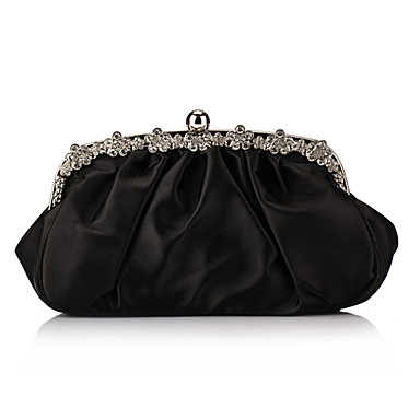 Stylish Satin Clutches With Ruffles(More Colors)