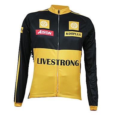 Kooplus Men's Long Sleeves Bike Jersey, Thermal / Warm, Quick Dry, Breathable