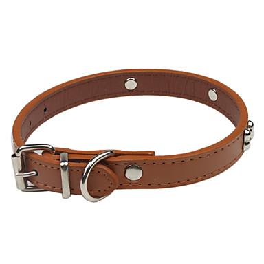 Köpek Yakalar Ayarlanabilir / İçeri Çekilebilir / Sevimli ve Topluca PU Deri Kahverengi / Kırmzı