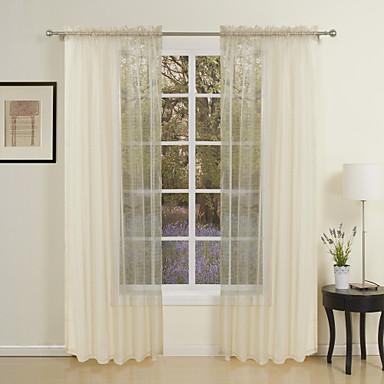 Rypytysnauha Purjerengas Kangaslenkki Tuplavekki 2 paneeli Window Hoito Moderni Yhtenäinen Living Room Polyesteri materiaali Läpinäkyvät