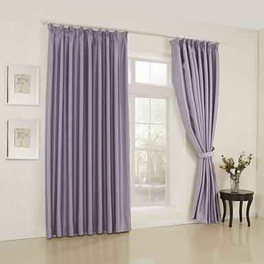 Ahşap Korniş Kısmı Kopça Deliği Üstü Tab Top Çift Kaplamalı İki Panel Pencere Tedavi Modern Solid Yatakodası 65% Rayon/35%Polyester Yapay