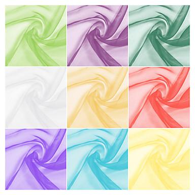 100% poliéster tecido de organza sólida pelo estaleiro (muitas cores)