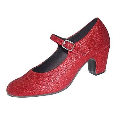 Sparkling Glitter Upper Dance Shoes Flamenco shoes For Women's
