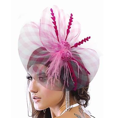 Elegante Nylon Met Feather Women's Fascinators