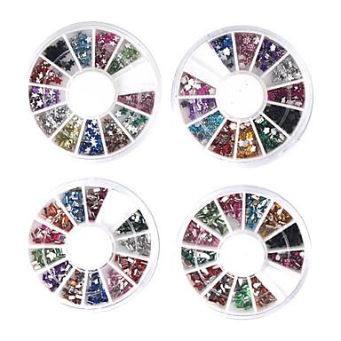 20 pcs Nail Art Takımı Tırnak Takısı tırnak sanatı Manikür pedikür Günlük Soyut / Moda / Nail Jewelry