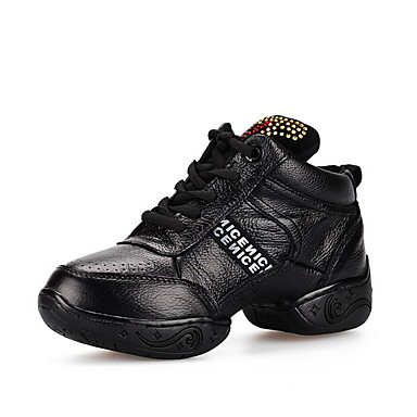 Elegant Women's Real Leather Flat Heel Dance Sneakers/Ballroom With Lace-up Dance Shoes