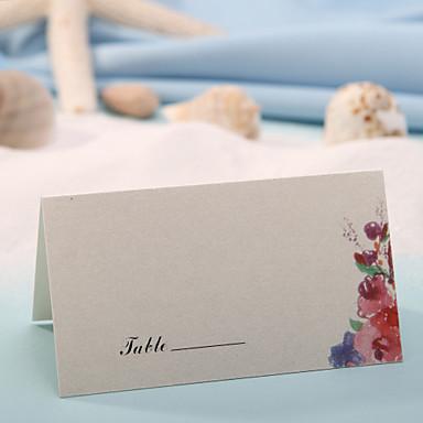 Tischkarten und Halterungen Tischkarte - romantischen Feder (Satz 12)