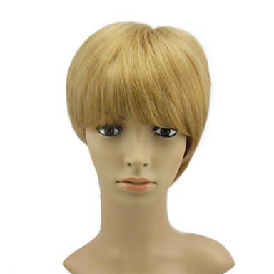 Mono Top Medium Rakt Blont hår peruk
