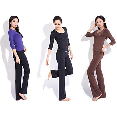 yoga tillfälliga sportkläder passar 2 set (rep kort ärm yoga t-skjorta + yoga byxor)