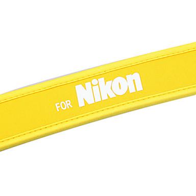 Noul aparat de fotografiat neopren curea de gât galben pentru Nikon D40X D60 D70s D80 D200 B103