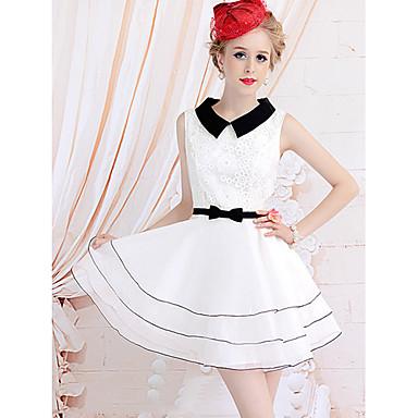 kvinners vintage ermeløs swing kjole