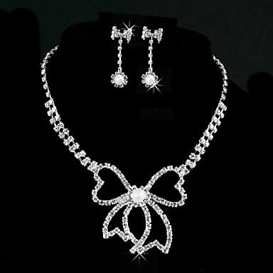 Superbe alliage avec strass / imitation Set Bijoux en perles des femmes y compris le collier, boucles d'oreilles