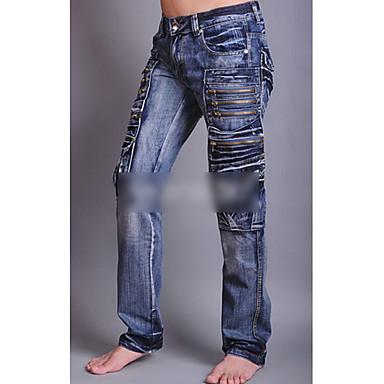diritti degli uomini tasche con cerniera dei jeans