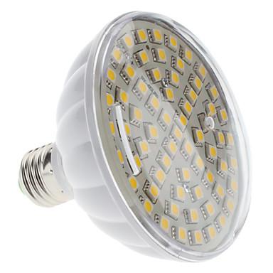E27 13W 65x5050 SMD 1200-1300lm 3000-3500K chaud Ampoule LED Spot Light Blanc (220)