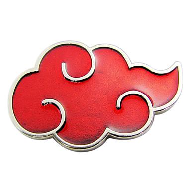 akatsuki punainen pilvi rintanappi cosplay lisävaruste