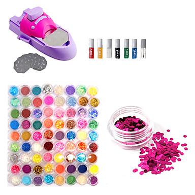 kutilství nehtů lak barevný tiskový stroj kit a 72 barev lesk nehtů