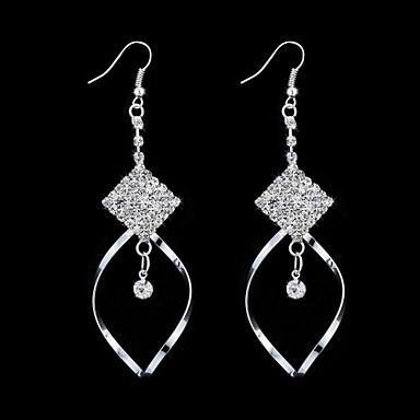 Elegant Alloy Irregular Crystal Drop Earrings