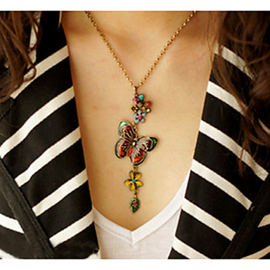 Women's Vintage Butterfly Necklace