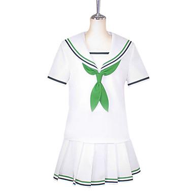 Inspireret af Kuroko ingen Basket Aida Riko Anime Cosplay Kostumer Cosplay Kostumer Skoleuniformer Patchwork Kortærmet Trøje Bluse Sløjfe
