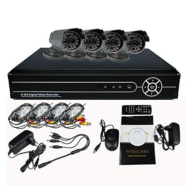 8-kanavainen DVR kodin turvallisuus valvontakameran järjestelmä 4 warterproof ulkona ir CCTV