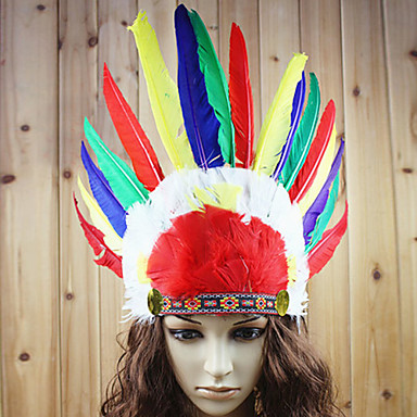 American Indian Holiday Jewelry Unisex Halloween Carnival New Year Festival / Holiday Halloween Costumes Print