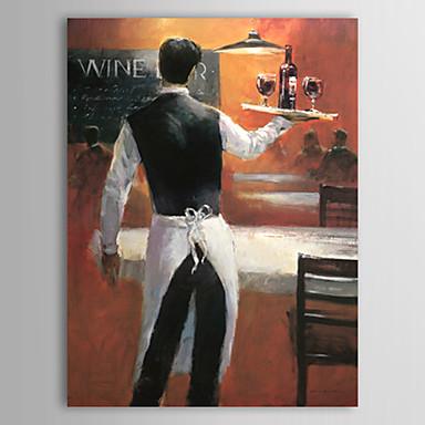 Hang-Painted öljymaalaus Maalattu - Ihmiset Comtemporary Kangas