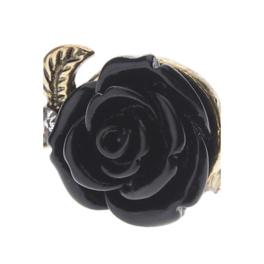 Women's Statement Ring Alloy Roses Flower Daily Costume Jewelry
