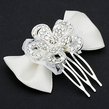 Women's Girls' Lace Alloy Headpiece-Wedding Special Occasion Casual Office & Career Hair Combs