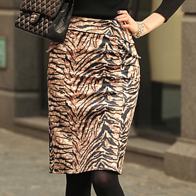 ALAN Mode Tiger Grain Bodycon Skirt (Slim Fit)