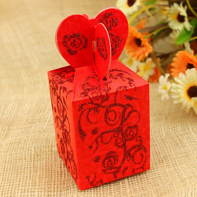 Cuboid Favor Holder With Favor Boxes-12 Wedding Favors & Gifts