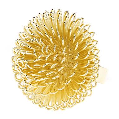Naisten Statement Ring - Metalliseos Dandelion naiset, Muoti Korut Kulta / Valkoinen Käyttötarkoitus Party Päivittäin Säädettävä