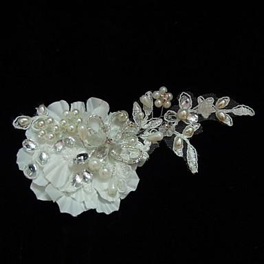 Ženy Satén Krajka imitace drahokamu Imitace perly Přílba-Svatba Zvláštní příležitost Neformální Ozdoby do vlasů Květiny
