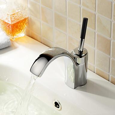 Moderne Centersat Keramik Ventil Et Hul Enkelt håndtag Et Hul Krom, Håndvasken vandhane