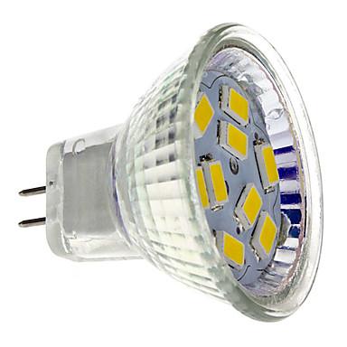 cheap Light Bulbs-2 W LED Spotlight 200 lm GU4 MR11 9 LED Beads SMD 5730 Warm White 12 V