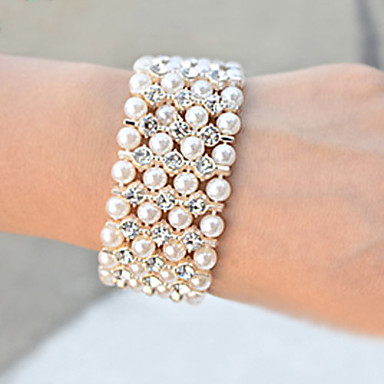 Women's Luxury Wide Pearl Bracelet