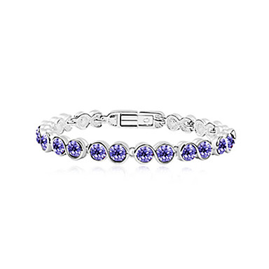 Fashionable Alloy Plating Platinum With Crystal Women's Bracelet(More Colors)