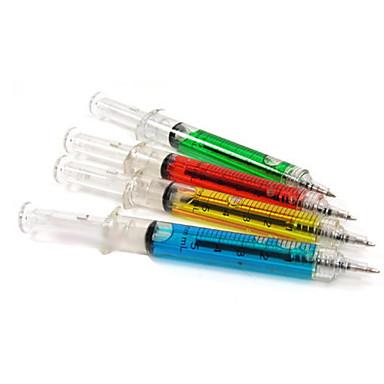 Şırınga kalem enjeksiyon iğne tüp tükenmez kalem doktor hemşire eğlenceli (rastgele renk)