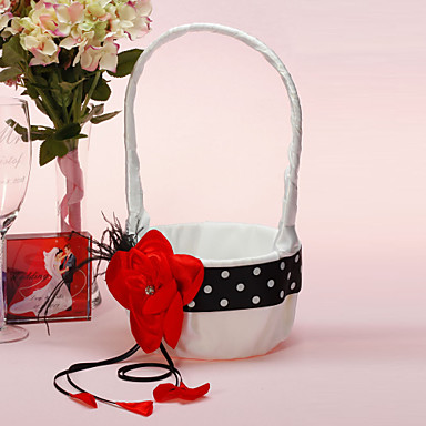 Flower Basket Nizza con Fiore Rosso