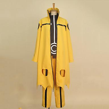 Inspiré par Naruto Naruto Uzumaki Manga Costumes de Cosplay Costumes Cosplay Mosaïque Manches Longues Manteau / Chemise / Pantalon Pour Homme