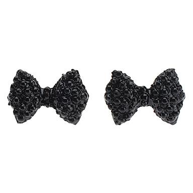 bowknot fuld diamant stud øreringe elegant klassisk feminin stil