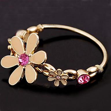 Kvinners Flower Crystal Bracelet