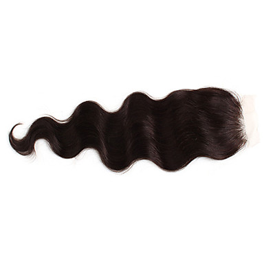 100% Indian Remy 16 Inch Body Wave Hair Full Lace Closures Extensions