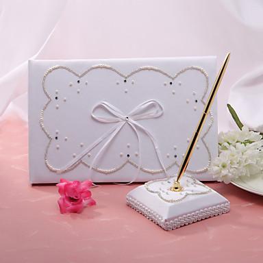 Knjiga gostiju / Set olovaka Saten Klasični TemaWithFaux Pearl