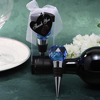 albastru de cristal dop de vin mingea