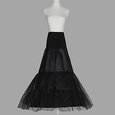 Wedding Special Occasion Slips Organza Taffeta Tulle Floor-length A-Line Slip with