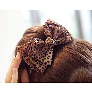 Women's Super Big Leopard Print Bow Hair Clip