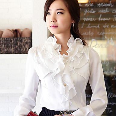 Vrouwen Ruffled Collar Shirt
