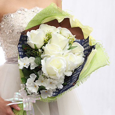 Wedding Flowers Bouquets Wedding Party / Evening Faux Leather Polyester 19.7