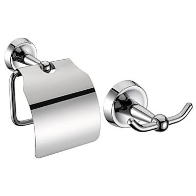 Kylpyhuone Accessory setit (Sisällytä Robe Koukut, vessapaperia haltijat - Chrome Finish Brass)